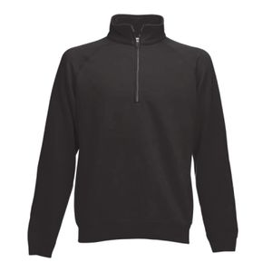Fruit of the Loom Classic Zip Neck Sweatshirt Thumbnail